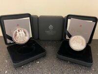 2021 ST. HELENA THREE GRACES 1 OZ SILVER PROOF COIN WITH COA