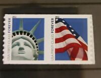 2011 SCOTT 4488 4489 FOREVER   LADY LIBERTY & FLAG PAIR. FRE