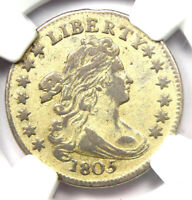 1805 DRAPED BUST DIME 10C - CERTIFIED NGC EXTRA FINE  DETAILS -  DATE COIN