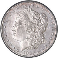 1883 S MORGAN SILVER DOLLAR ABOUT UNCIRCULATED AU SEE PICS G010