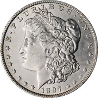 1897-O MORGAN SILVER DOLLAR - CLEANED GREAT DEALS FROM THE EXECUTIVE COIN COMPAN