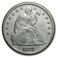 1872 LIBERTY SEATED DOLLAR VF DETAILS CLEANED - SKU14096