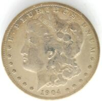 1904 S MORGAN DOLLAR $1 ONE US 90 SILVER COIN UNITED STATES SAN FRANCISCO MINT