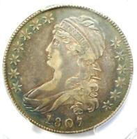 1807 CAPPED BUST HALF DOLLAR 50C COIN O-112 - CERTIFIED PCGS EXTRA FINE  DETAILS EF