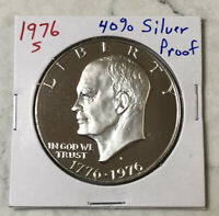 1976-S EISENHOWER IKE DOLLAR -- 40 SILVER PROOF.   CAMEO