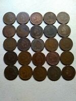 1-ROLL 50 INDIAN HEAD CENTS-PENNEY- 1800'S  CIRCULATED - DUPLICATES- YOU GRADE.