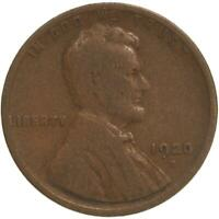 1920 D LINCOLN WHEAT CENT GOOD PENNY GD