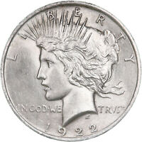 1922 PEACE SILVER DOLLAR UNCIRCULATED US MINT COIN