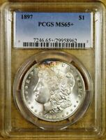 1897 PCGS MINT STATE 65 MORGAN DOLLAR - VAM 6A - PITTED REVERSE - BETTER DATE
