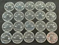 1961 S & 1963 S 50C ROLL OF 20 SILVER GEM PROOF FRANKLIN SIL
