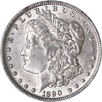 1890 O MORGAN SILVER DOLLAR ABOUT UNCIRCULATED AU SEE PICS H998