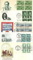 1953 1985 FDC ASSORTED CACHETS BLOCKS