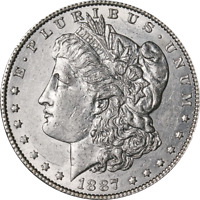 1887/6-P MORGAN SILVER DOLLAR GREAT DEALS FROM THE EXECUTIVE COIN COMPANY
