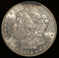 1902 P MORGAN DOLLAR, BRILLIANT UNCIRCULATED CONDITION, STRONG LUSTER, C4639