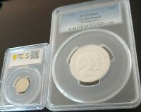 1972 $25 PCGS MS69 SILVER GIGANTIC SILVER COIN AND SLAB RECE