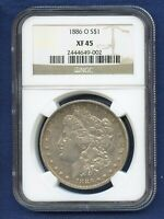 1886 O NGC EXTRA FINE 45 MORGAN SILVER DOLLAR $1 US MINT  KEY DATE COIN 1886-O EXTRA FINE -45