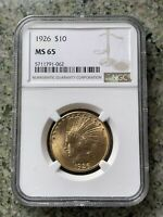 1926 NGC MS65 $10 INDIAN GOLD EAGLE