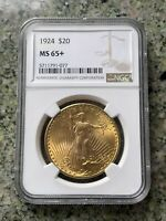 1924 $20 ST. GAUDENS GOLD DOUBLE EAGLE MS 65  NGC