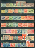 US AIR MAIL COLLECTION OF USED AND UNUSED STAMPS MOSTLY MINT