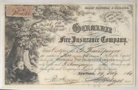US REVENUE STAMP ON A 1864 STOCK CERTIFICATE