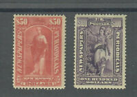US SCOTT  PR124 AND PR125 BOTH MINT / VF / HINGED WITH FULL