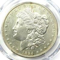 1894-S MORGAN SILVER DOLLAR $1 COIN - CERTIFIED PCGS AU DETAILS -  DATE