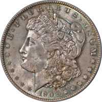 1903-O MORGAN SILVER DOLLAR PCGS MINT STATE 65 STRONG STRIKE