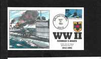 SCOTT 2765A GERMAN U BOATS MAY 31 1993 COLLINS HAND PAINTED