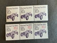 US STAMP 17.5 CENT RACING CAR SC 2262 AND 2262A COIL STRIP O