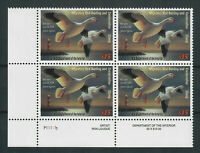 US SC  RW70 MINT/VF/NH PLATE BLOCK OF 4 FEDERAL DUCK STAMPS
