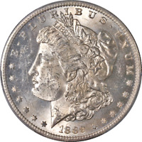 1889-S MORGAN SILVER DOLLAR PCGS MINT STATE 62  EYE APPEAL STRONG STRIKE