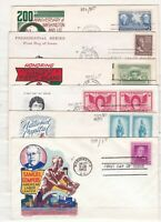 USA ^^^^ 1938 50   X6  BETTER  FIRST DAY COVERS  $$@  DCCC44
