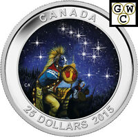 2015 THE QUEST STAR CHARTS GLOWING COLORIZED $25 SILVER COIN 1OZ .9999  14035 NT