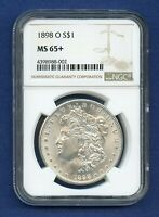 1898 O NGC MINT STATE 65 MORGAN SILVER DOLLAR $1 1898-O MINT STATE 65 PLUS SUPER PQ COIN