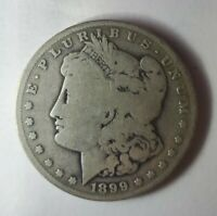 1899-S MORGAN SILVER DOLLAR GOOD DETAIL CONDITION KEY DATE COIN SHIPS FREE