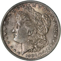 1884 MORGAN SILVER DOLLAR ABOUT UNCIRCULATED AU SEE PICS F118