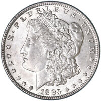 1885 MORGAN SILVER DOLLAR ABOUT UNCIRCULATED AU SEE PICS H991