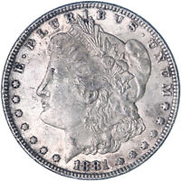 1881 MORGAN SILVER DOLLAR ABOUT UNCIRCULATED AU SEE PICS K364
