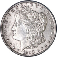 1898 S MORGAN SILVER DOLLAR ABOUT UNCIRCULATED AU SEE PICS K430