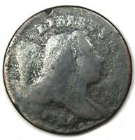 1794 LIBERTY CAP FLOWING HAIR HALF CENT 1/2C COIN - GOOD DETAIL CORROSION