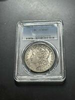 1881 S MORGAN SILVER DOLLAR PCGS MINT STATE 65 COLORFUL PASTEL TONING SLAB803