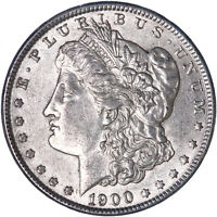 1900 MORGAN SILVER DOLLAR ABOUT UNCIRCULATED AU SEE PICS L043