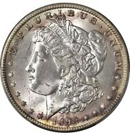 1898 O MORGAN DOLLAR MINT STATE 64 PCGS CERTIFIED LUSTROUS SILVER BEAUTIFUL TONING