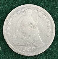 1857 SEATED LIBERTY HALF DIME TEN CENTS SILVER