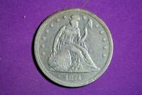 ESTATE FIND 1871 SEATED LIBERTY SILVER DOLLAR K2276