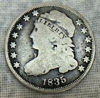 1835 CAPPED BUST DIME UNCERTIFIED COIN
