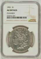 1901 MORGAN SILVER DOLLAR $1 NGC AU DETAILS CLEANED 5948256-007
