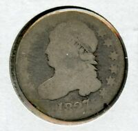 1827 CAPPED BUST SILVER DIME 10C COIN - JL918