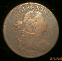 1807 DRAPED BUST LARGE CENT REVERSE ROTATED 90 DEGREES