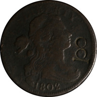 1802 LARGE CENT - COUNTER STAMP '100' GREAT DEALS FROM THE EXECUTIVE COIN COMPAN